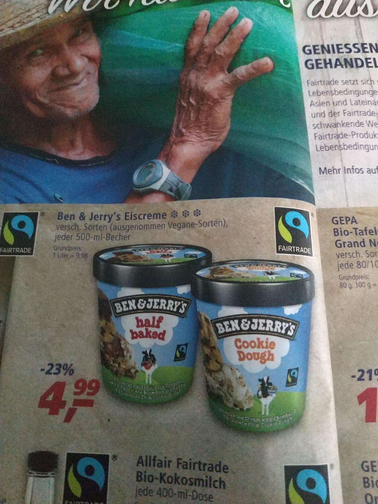 Ben & Jerry's Eis verschiedene Sorten