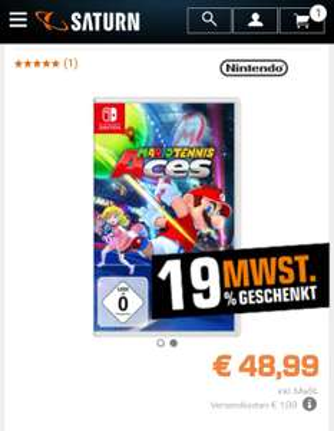 [MM+Saturn] Mario Tennis Aces Switch