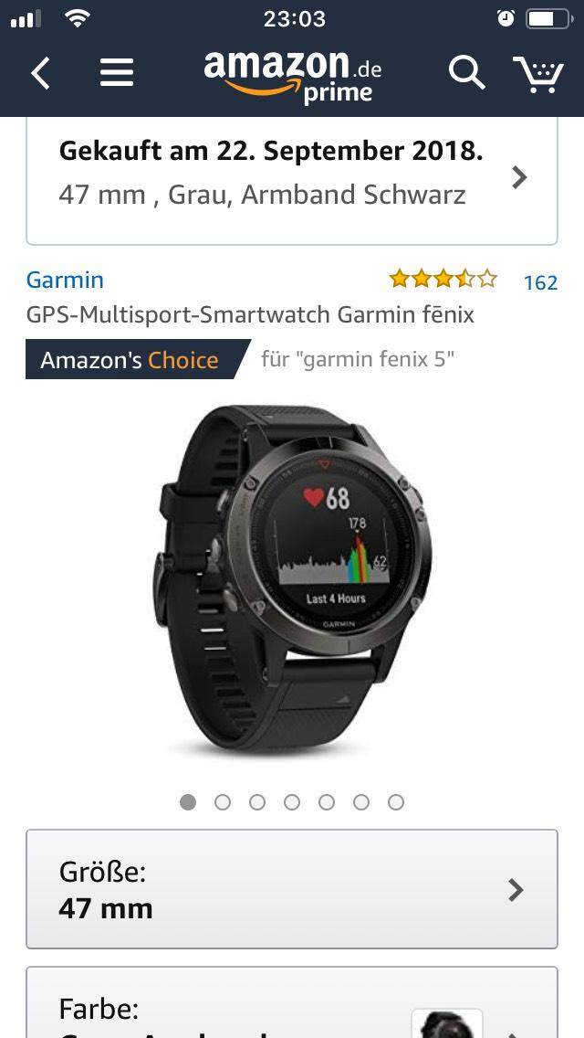 Garmin Fenix 5 bei amazon für 385,70 €