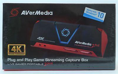 AVerMedia 2 Plus -STREAM- Rot, Schwarz 4K  (PS4 Pro und Xbox One X geeignet)