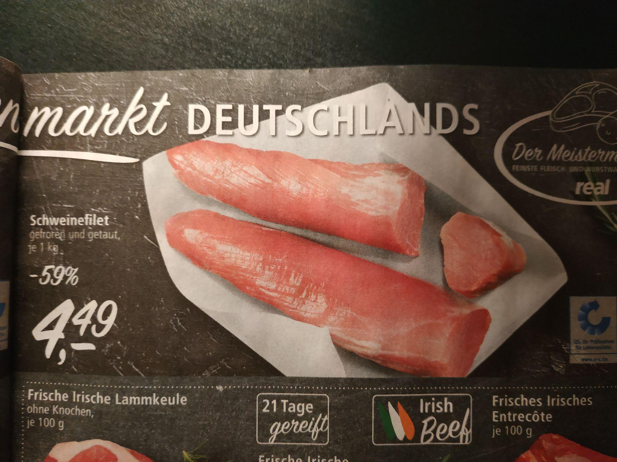 [REAL] Schweinefilet 4,49 € pro kg.