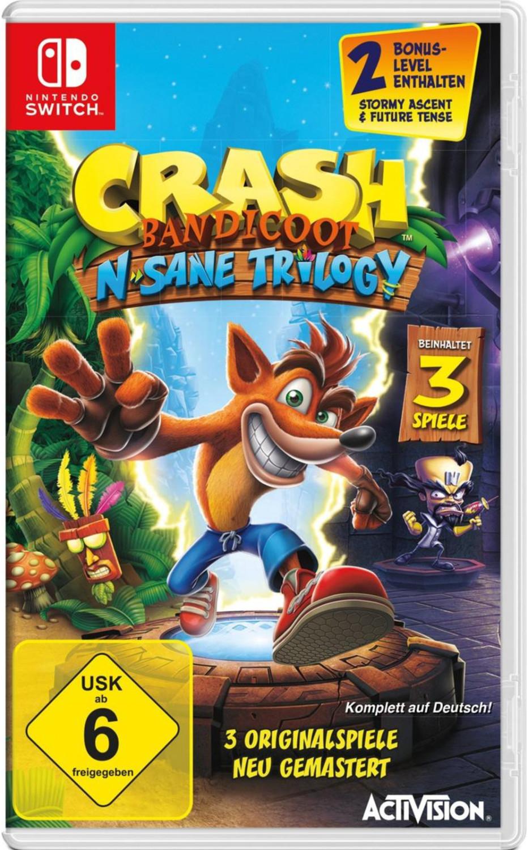 Crash Bandicoot N. Sane Trilogy (Switch) für 27,99€ & Donkey Kong Country: Tropical Freeze & Doom & Splatoon 2 & Mario Tennis Aces & Arms für je 39,99€ (Müller)