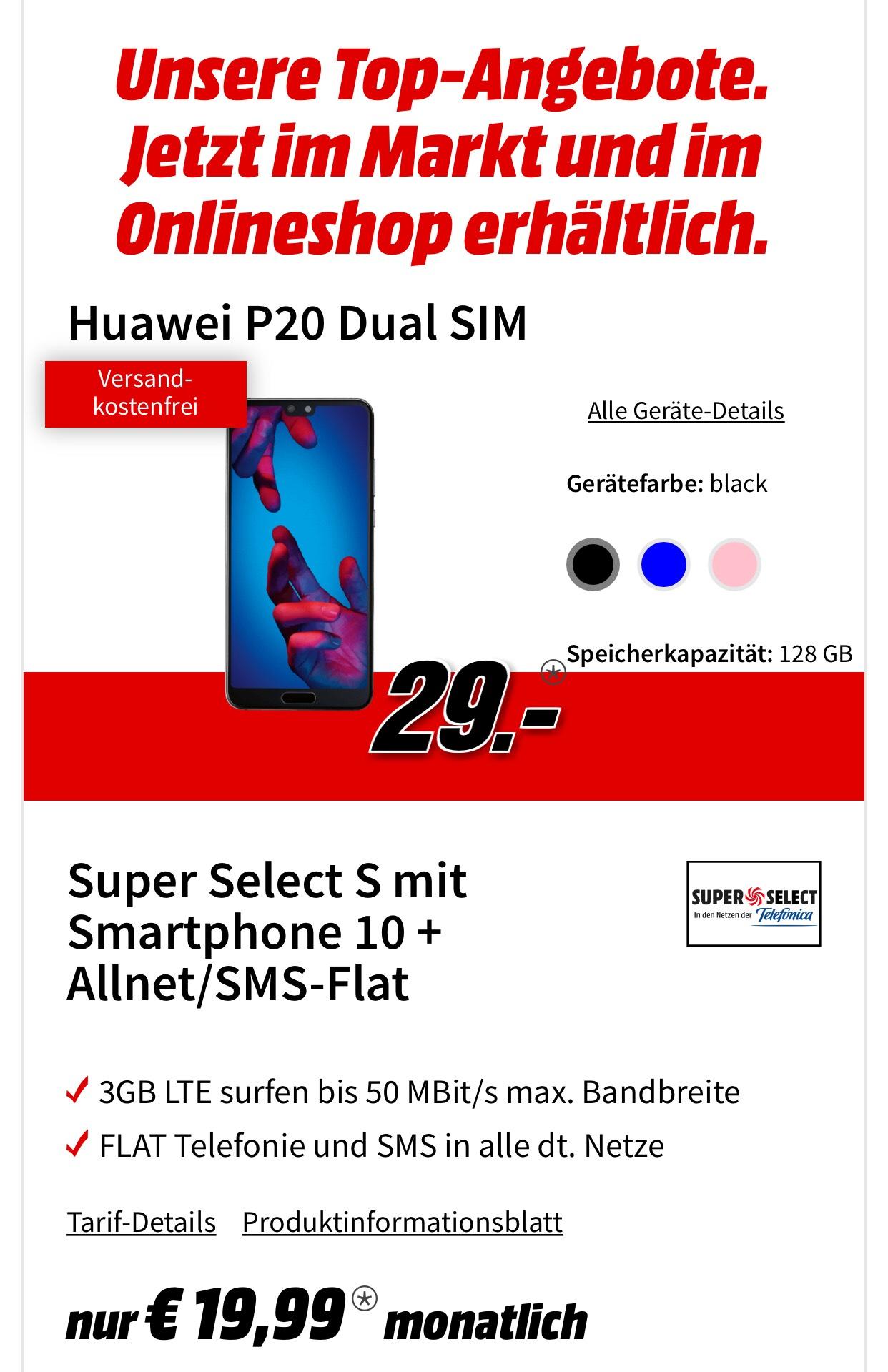 3GB LTE allnet + Huawei P20