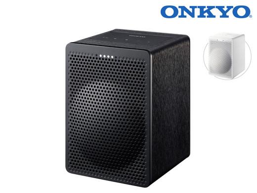 [ibood] Onkyo VC-GX30 Lautsprecher mit Google Assist (schwarz / weiß)