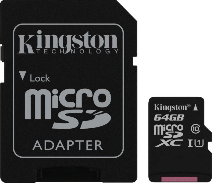 Kingston microSDXC mit 64GB Class 10 / U1 für 11,65€ [7DayShop]