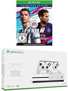 Xbox One S 1TB Konsole - Bundle inkl. 2. Controller + 3 Monate Gamepass + 14 Tage Live Gold + FIFA 19 - Champions Edition | Xbox One - Download Code