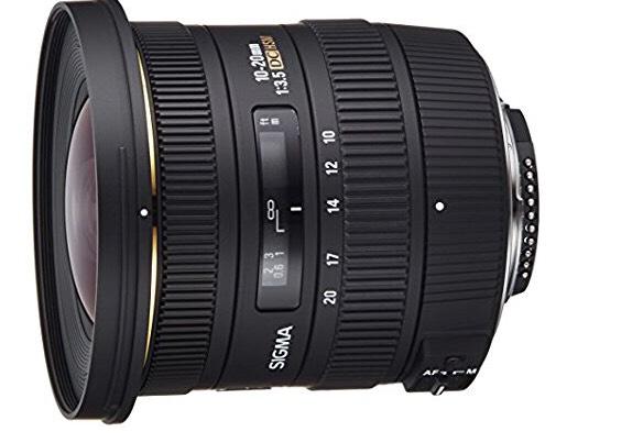 [Amazon] Weitwinkel Objektiv Sigma 10-20mm F3,5 EX DC HSM für Nikon &Canon mit Köcher: Tagesangebot