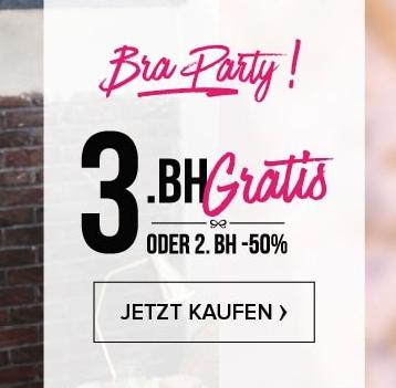 Bra-Party bei Hunkemöller: 3. BH gratis oder 2. BH -50% reduziert