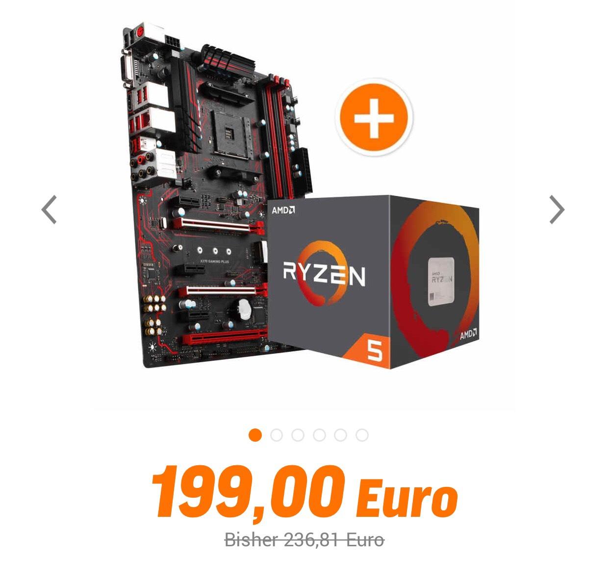 MSI X370 Gaming Plus + Ryzen 5 1600 bei NBB für 199,99€! Paypal Zahlung!3Jahre Garantie! Update:Versandkostenfrei!!!