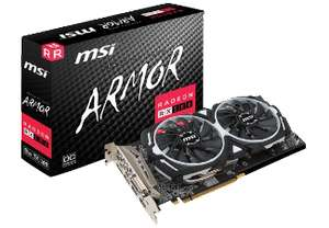 MSI Radeon RX 580 Armor OC 8GB (1366 MHz, 8 GB, 185 Watt, 2x Display Port, 2x HDMI, DVI, PCIe 3.0 x16)