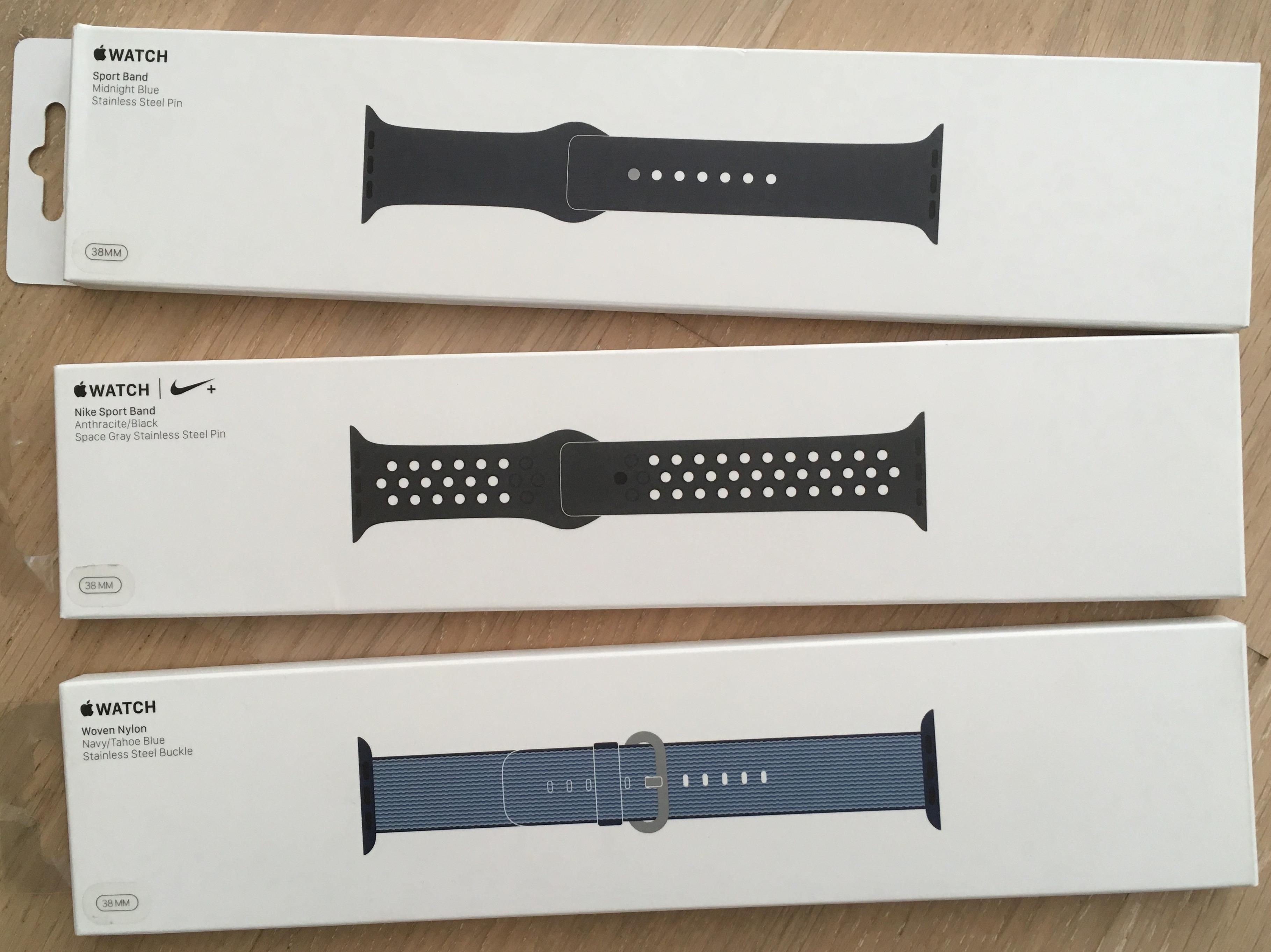 [Lokal Berlin] Apple Watch Armbänder für 20 EUR bei Mediamarkt. (Sport / Nylon / Nike in 38 und 42 mm)