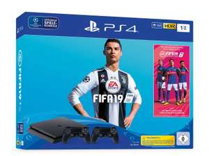 SONY PlayStation 4 Slim 1 TB inkl. FIFA 19 Bundle & 2. Controller