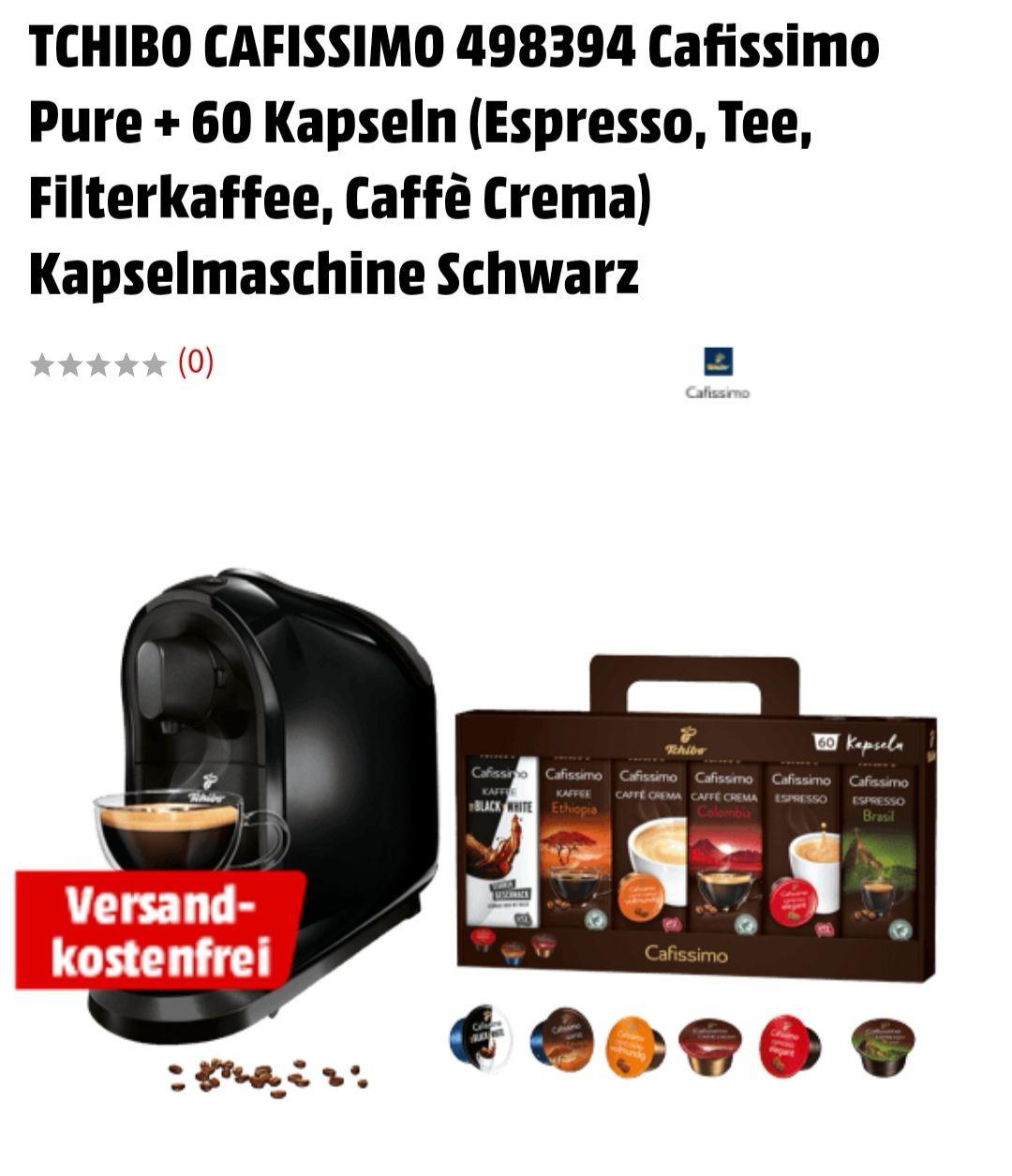CAFISSIMO 498394 Cafissimo Pure + 60 Kapseln