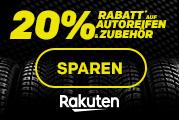 20% Rabatt auf Reifen bei Rakuten bei ausgewählten Händlern /// viele Beispiele