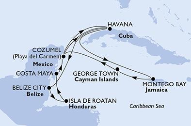 MSC Kreuzfahrten: 14 Tage Karibik inkl. Flüge für 2 Personen