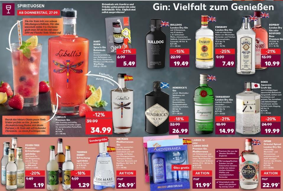 kaufland verschiedene gin tonic angebote ab teilweise lokal unterschiedliche preise. Black Bedroom Furniture Sets. Home Design Ideas