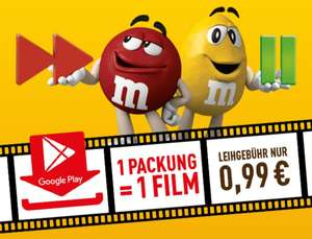 M&M's Aktionspackung kaufen und Film für 99cent leihen