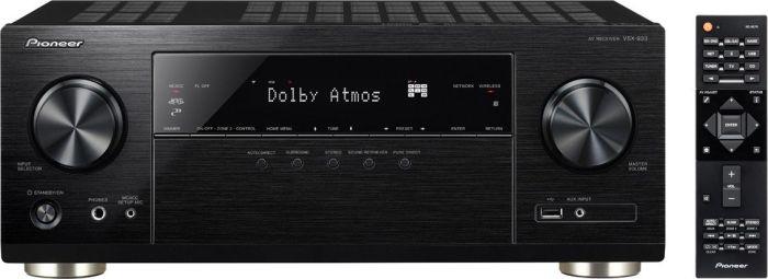 [alternate] Pioneer 7.2 Kanal AV Receiver VSX-933-B (135 Watt/Kanal, Multiroom, WLAN, Bluetooth, Streaming, Dolby Surround-Dolby Atmos-DTS:X) Schwarz