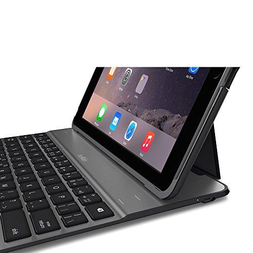 Bluetooth Tastatur mit Hülle für das iPad Air 2 (Amazon)