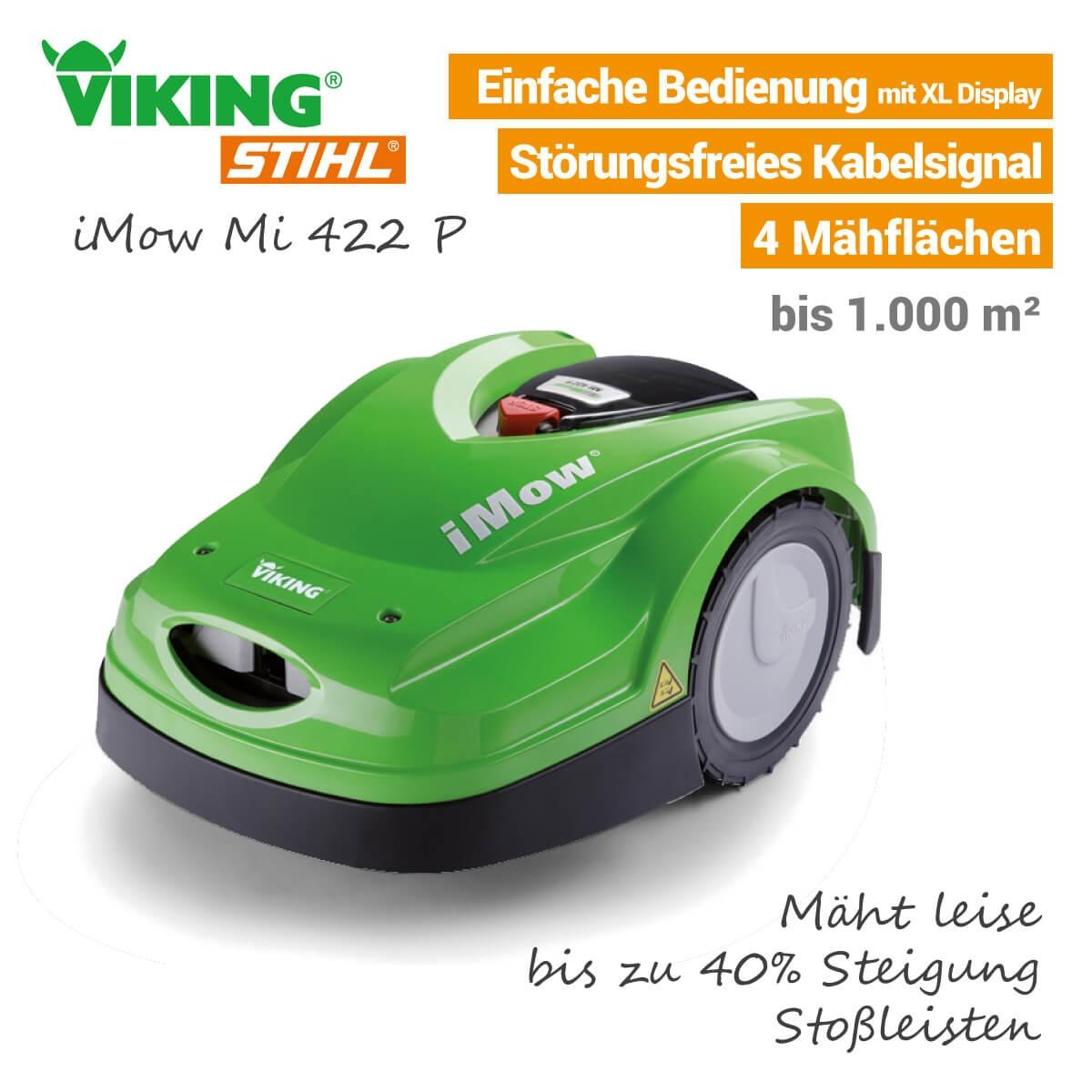 (Profi-Technik Simon) Mähroboter Viking iMow MI 422 und iMow MI 422P