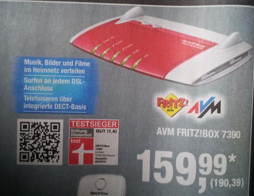 [METRO] Fritz!Box 7930 für 190,39€ / vgl. Preis 204€