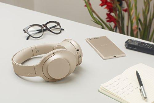 Sony WH-H900N  Kabelloser High-Resolution Kopfhörer (Noise Cancelling, Bluetooth, NFC,) Rot- Grün- Gold