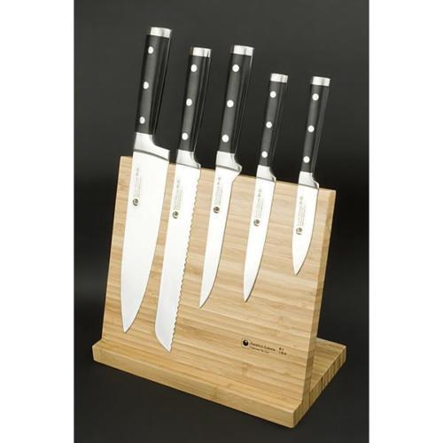 Izumi Ichiago 5-teiliges Kochmesser Set mit Bambusständer