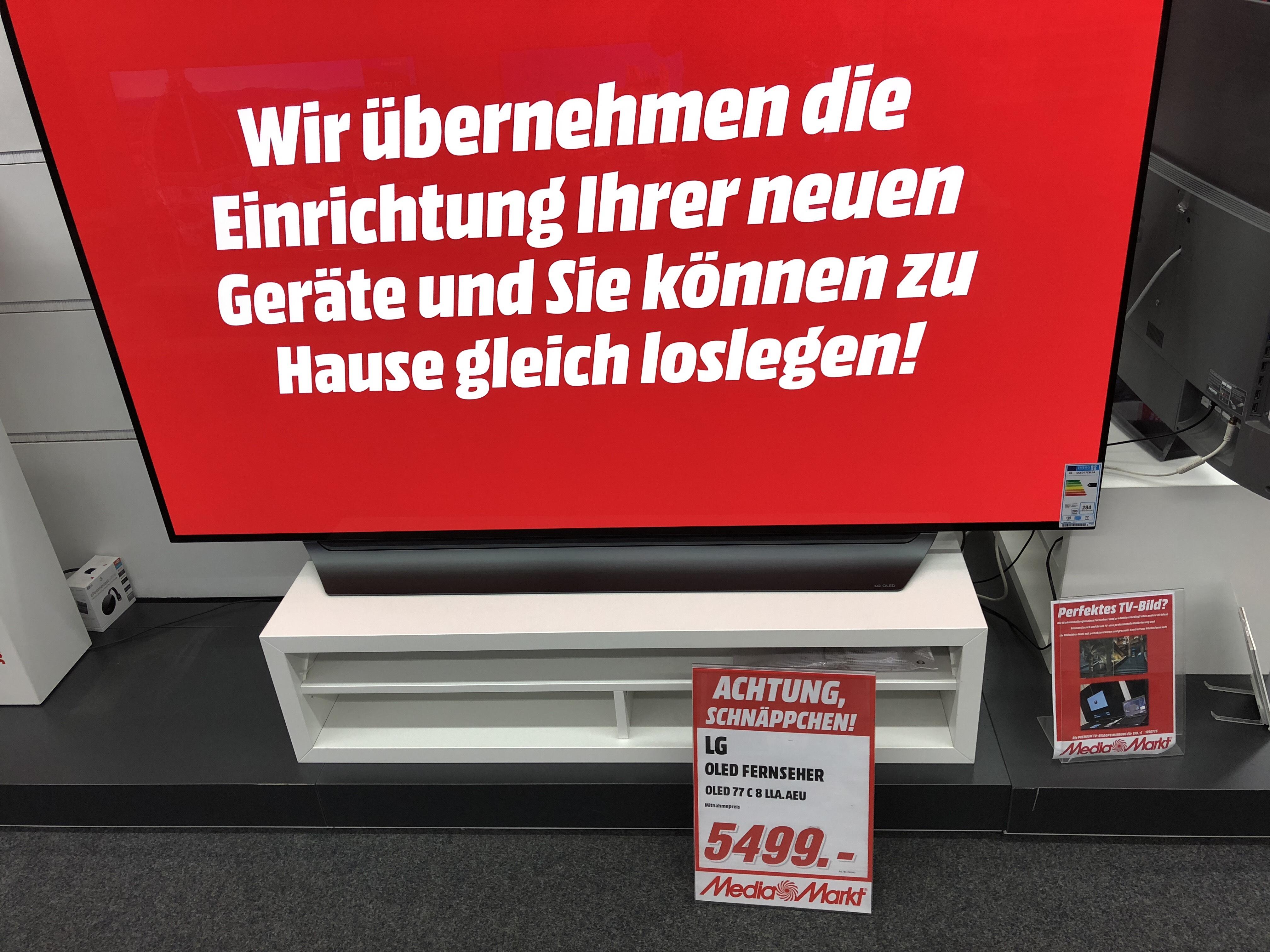 "(Lokal Bonn ) Mediamarkt LG  OLED  TV 77""  (C 8 LL.AEU )"