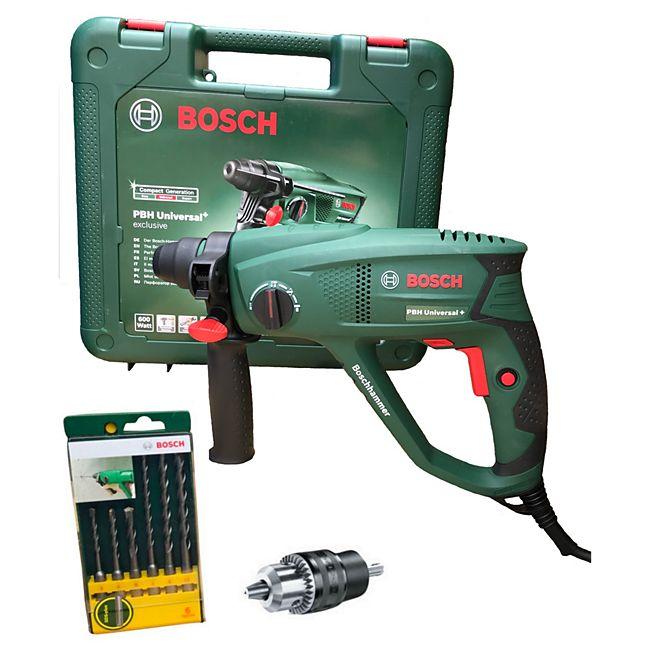 [Plus] Zoom Bosch PBH Universal+ 2500 SRE Bohrhammer inkl. 6-tlg. SDS-Plus Bohrer-Set