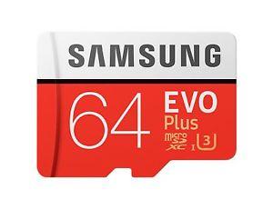 Samsung Evo Plus 64GB Micro SDXC UHS-I U3