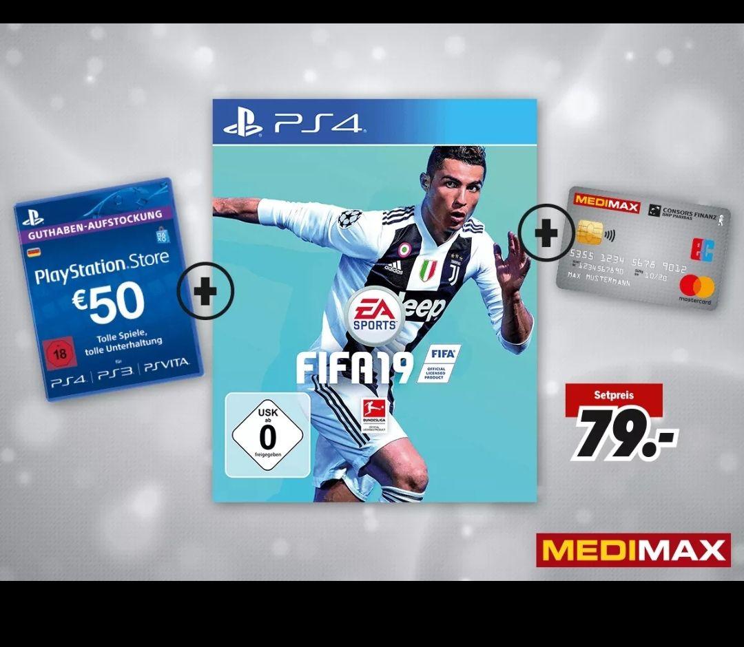 Lokal Mettmann - Fifa 19 Ps4 + 50€ Psn Guthaben bei Kundenkarten-Anmeldung