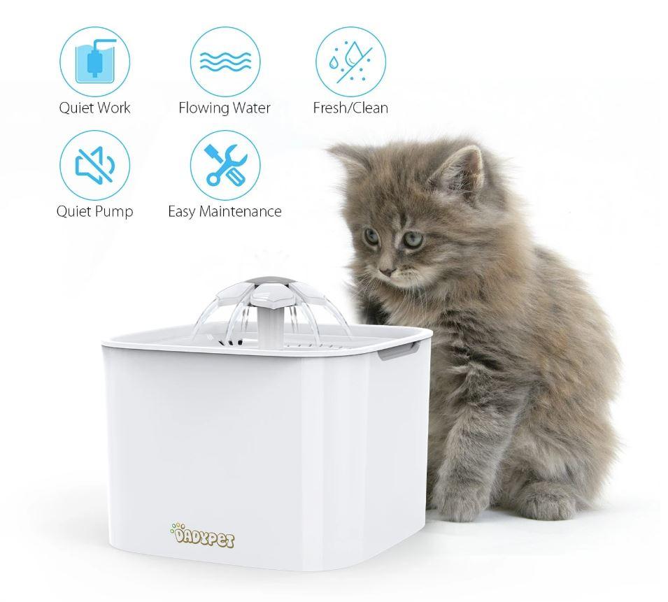 Elektronischer Katzenbrunnen mit 2L Wasserspeicher -6% Shoop möglich