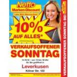 Verkaufsoffener Sonntag bei NETTO: 10 % Rabatt auf alles (am 14.10.)