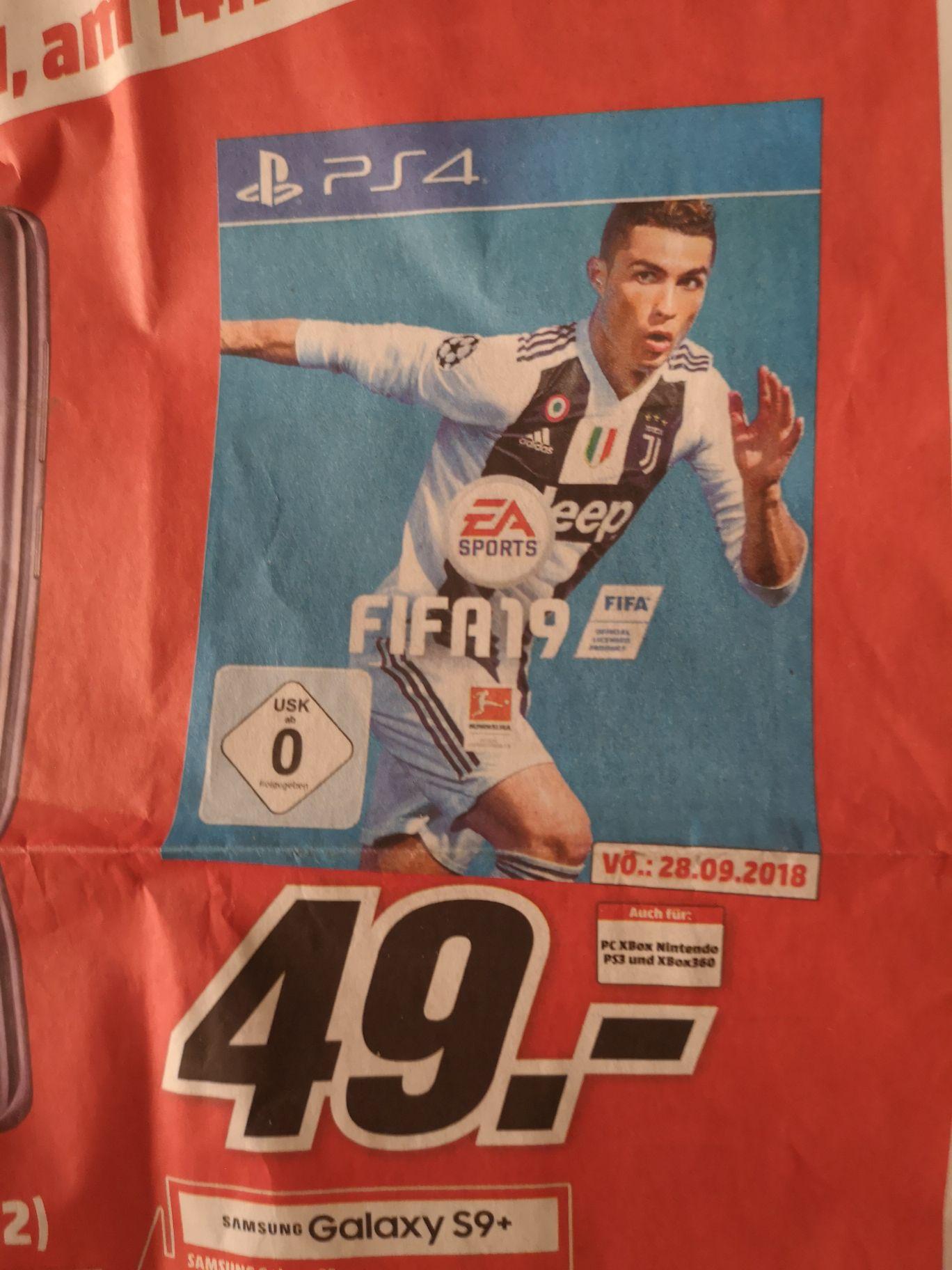 Fifa 19 PS4 für 49€ bei Mediamarkt evtl bundesweit?