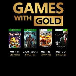(Games with Gold Oktober) Overcooked (Xbox One), Victor Vran (Xbox One), Stuntman Ignition (Xbox One/Xbox 360), Hitman: Blood Money (Xbox One/Xbox 360)