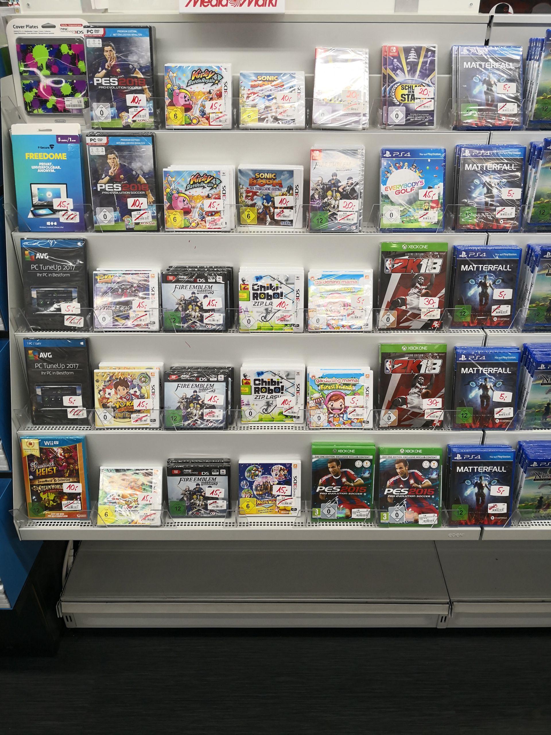 (Lokal Media Markt Breuninger Land Ludwigsburg) Diverse Spiele (Switch, 3DS, PS4, Xbox One) im Abverkauf
