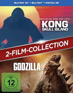 Kong: Skull Island + Godzilla 3D 2-Film-Collection​ (3D Blu-ray + Blu-ray + UV Copy) für 9,97€ (Amazon Prime)
