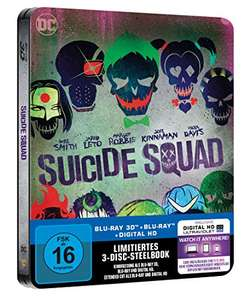 Suicide Squad - Steelbook Limited Edition (3D Blu-ray + Blu-ray Extended Cut + Digital HD) für 9,97€ (Amazon Prime)