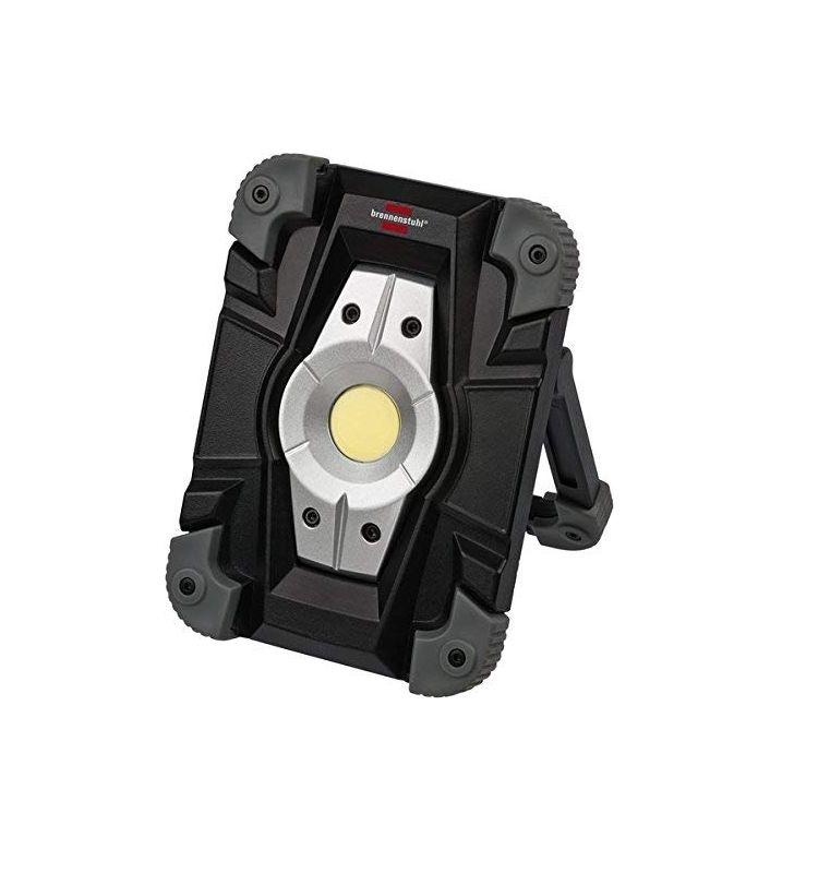 Brennenstuhl Akku LED Arbeitsstrahler/LED Strahler Akku (Außenleuchte 10 Watt, Baustrahler IP54, Fluter Tageslicht) schwarz/grau [Amazon]