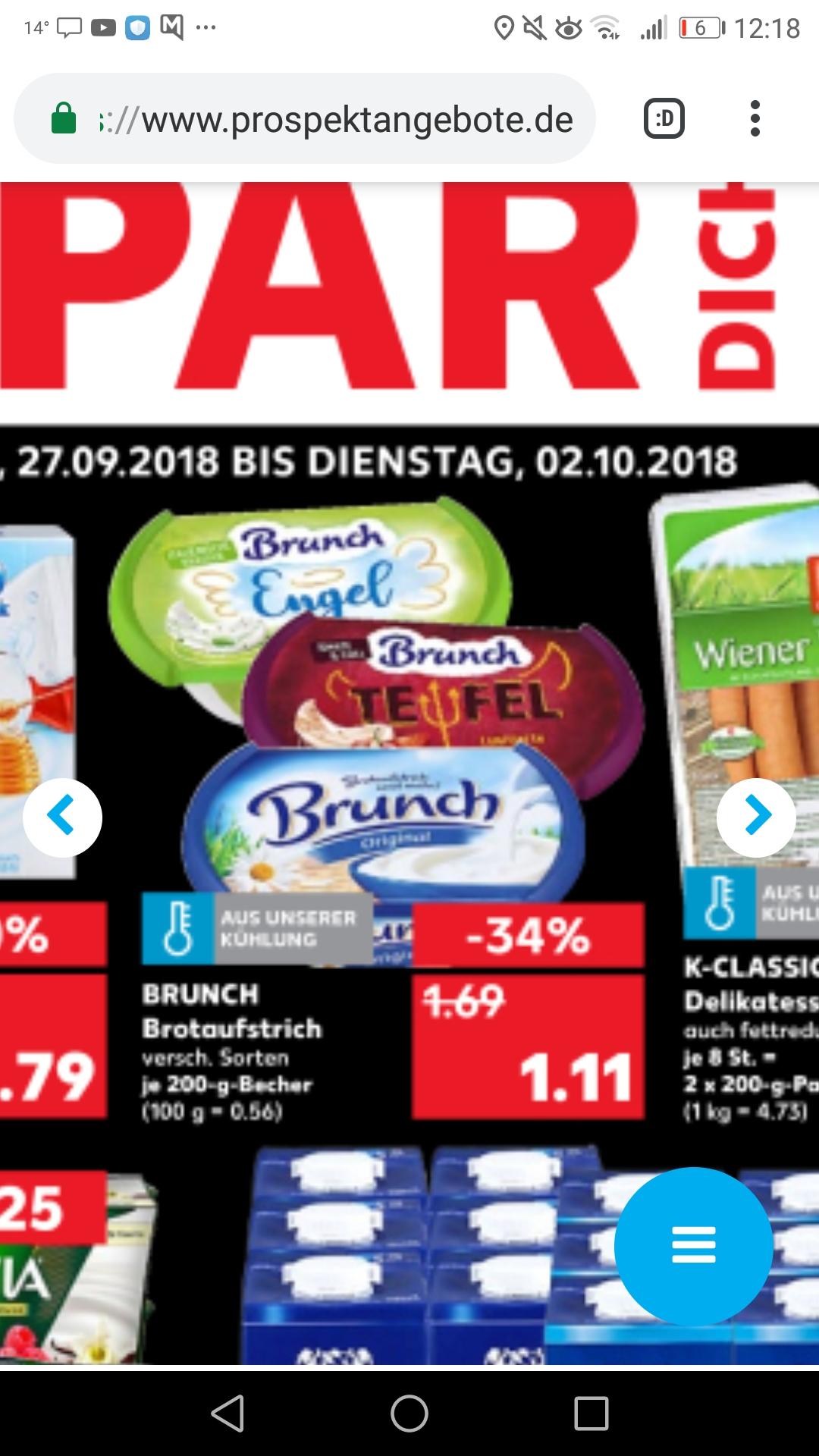 Kaufland bundesweit ab morgen: 2x Brunch Engel&Teufel limited Edition für 2,22€ +1,11€ scondoo Cashback (effektiv 56 Cent pro Packung)