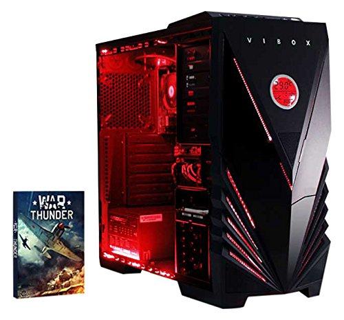 VIBOX Precision 6 PC: AMD FX 4300 4x 3,8GHz, Nvidia Geforce GT 730 1GB, 8GB RAM, 1TB HDD, DVD Brenner, Rote LED Beleuchtung für 218,61€ (Amazon)
