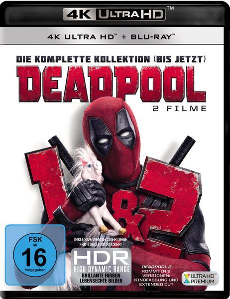 Deadpool 1 + 2 (3x 4K Ultra HD Blu-ray + 3x Blu-ray) für 28,69€ (Thalia)