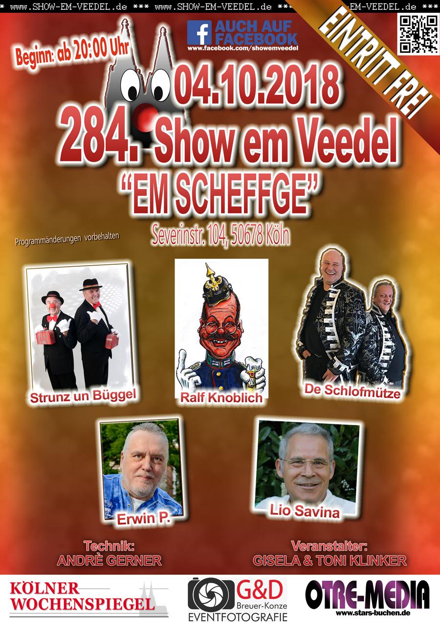 Köln - 284. Show em Veedel - 04.10.2018 - 20 Uhr - Eintritt frei
