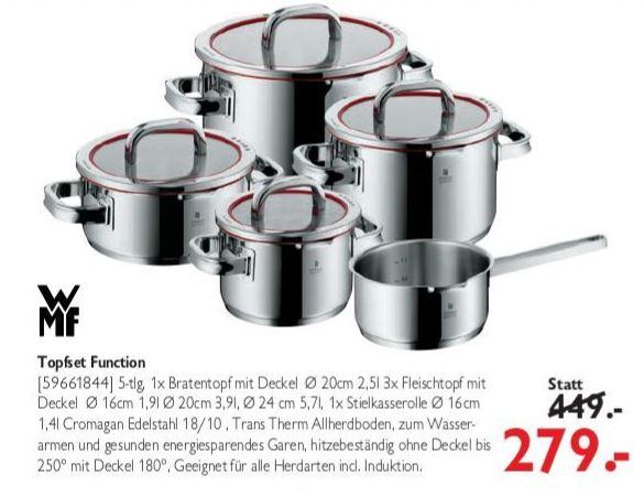[LOKAL] Oldenburg & Wiesmoor - WMF Topfset Function 4 (5-teilig) & WMF Steakmesserset (12-teilig)