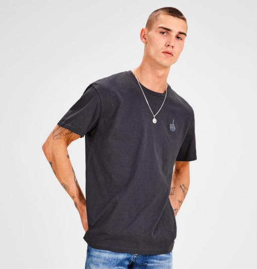 Bis Dezember gratis Versand bei Jack & Jones + Sale, z.B. T-Shirt mit frechem Mittelfinger in 2 Farben