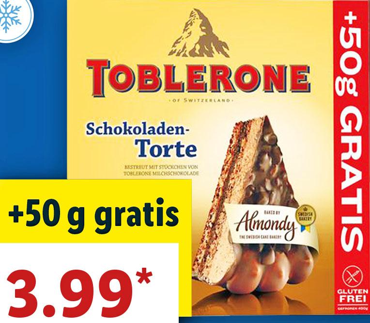 Mandeltorte mit Toblerone oder Daim für nur 3,99€ bei (Lidl)