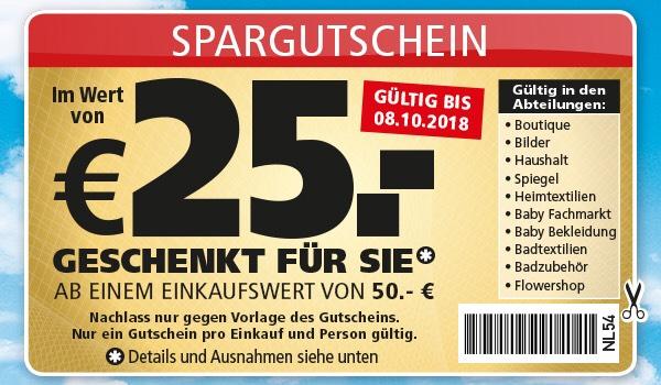 Segm ller offline 25 sofortabzug ab 50 einkauf for Segmuller gutschein