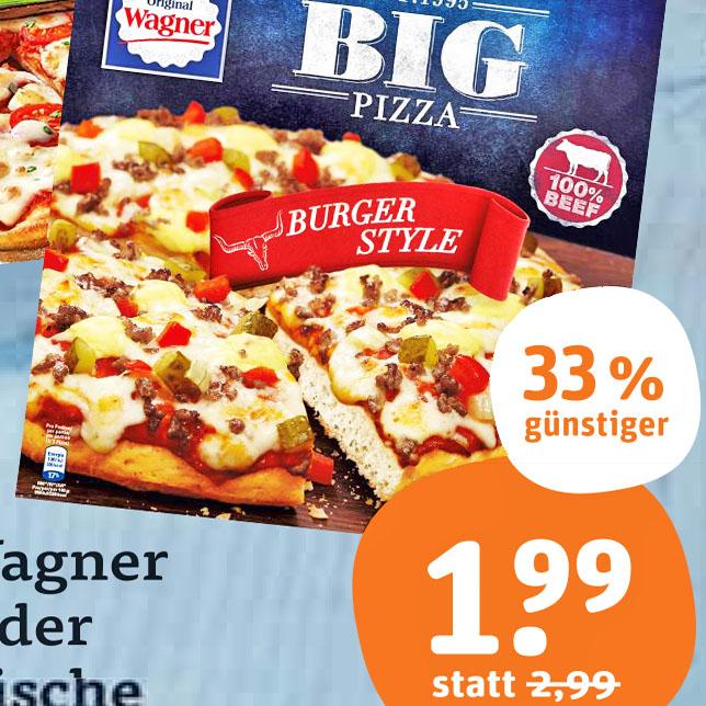 """2x """"BIG Pizza"""" oder """"Die Backfrische"""" für nur 2,98€ / 1,49€ pro Stück dank Online-Coupon bei (tegut ab 1.10.)"""
