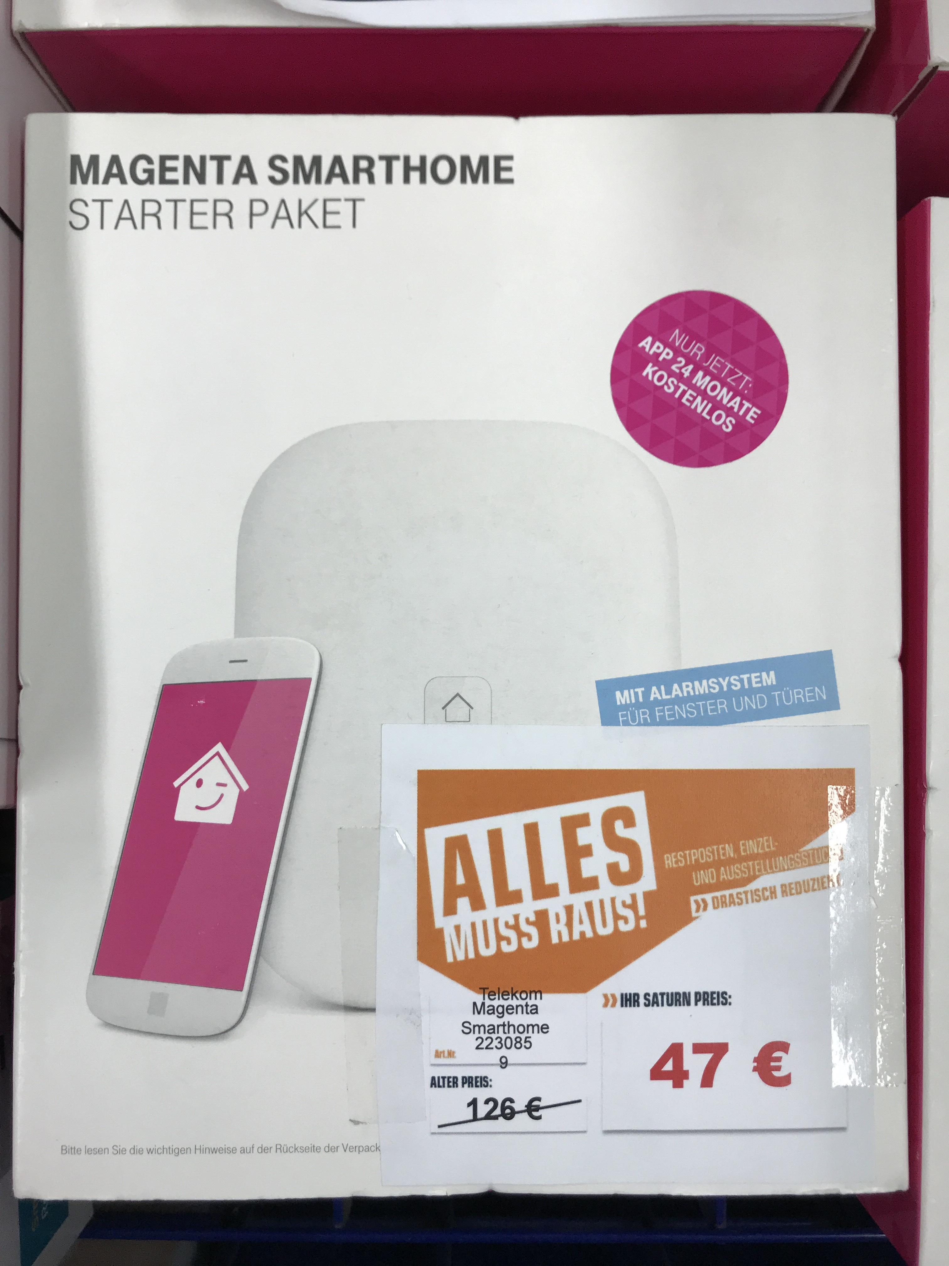 [Lokal] (Saturn Hürth-Köln) Telekom Smart Home Starter Paket inkl. 24 Monate Magenta SmartHome Dienst