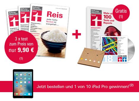 (Stiftung Warentest) 3 Ausgaben test + Archiv-CD 2018 + test Jahrbuch 2019